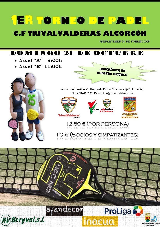 ¡Torneo de Padel C.F. TrivalValderas Alcorcón!