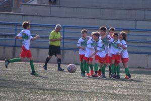 Celebrando el primer gol contra el Móstoles Balompié