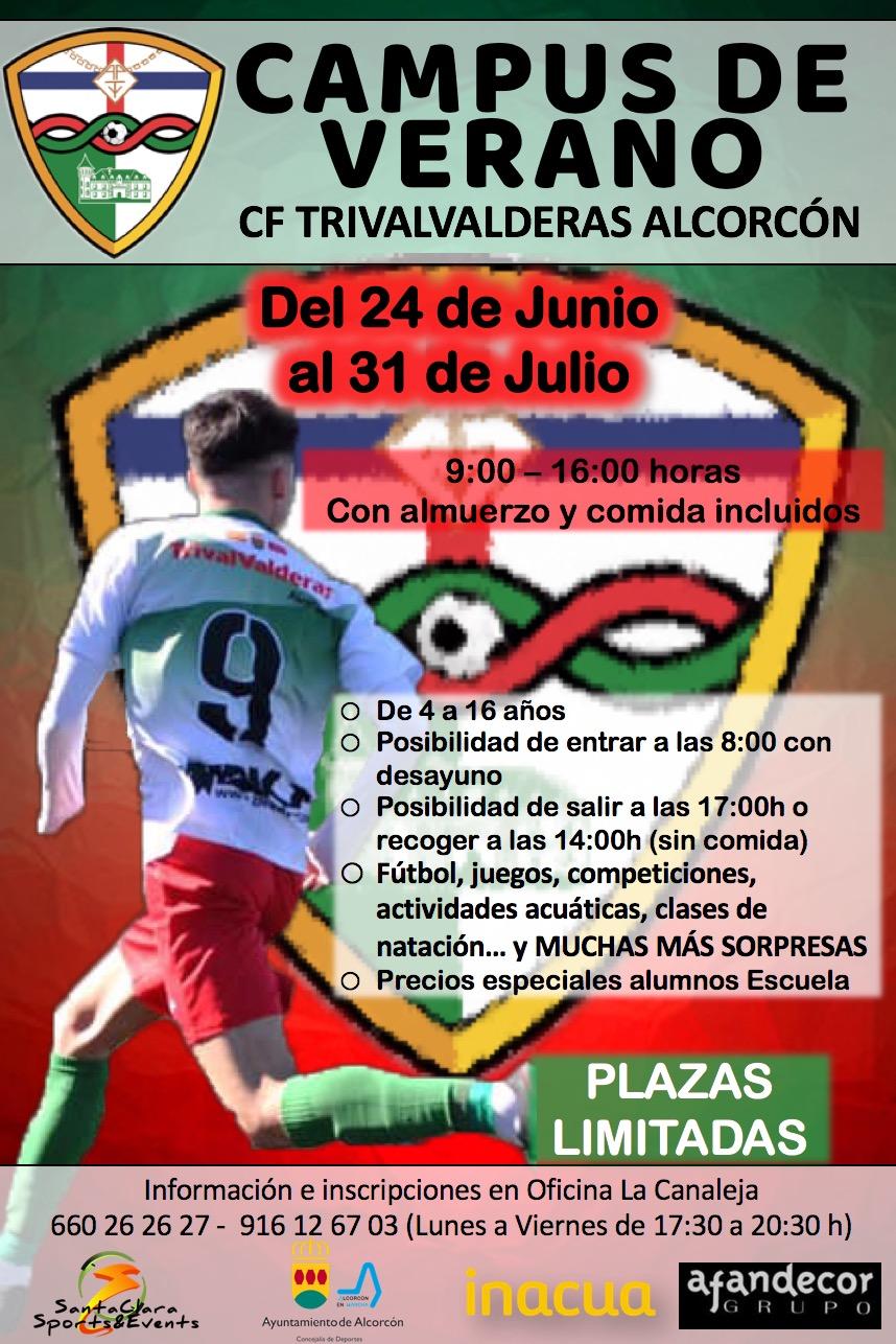 El Campus de Verano del CF TrivalValderas Alcorcón será del 24 de junio al 31 de julio