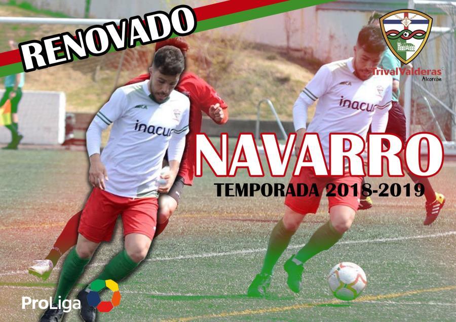 OFICIAL/ Renovación David Navarro Aficionado «B» temporada 2018/2019