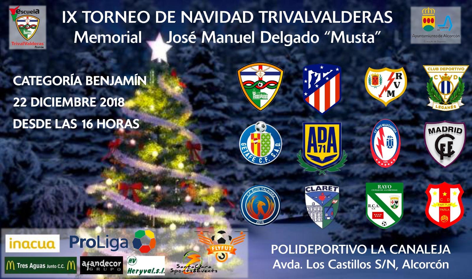 IX TORNEO DE NAVIDAD TRIVALVALDERAS – Memorial José Manuel Delgado «Musta»