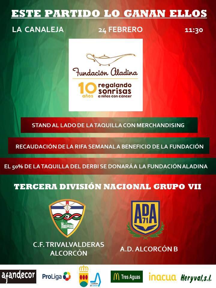 El TrivalValderas colaborará el próximo 24 de febrero con la fundación Aladina