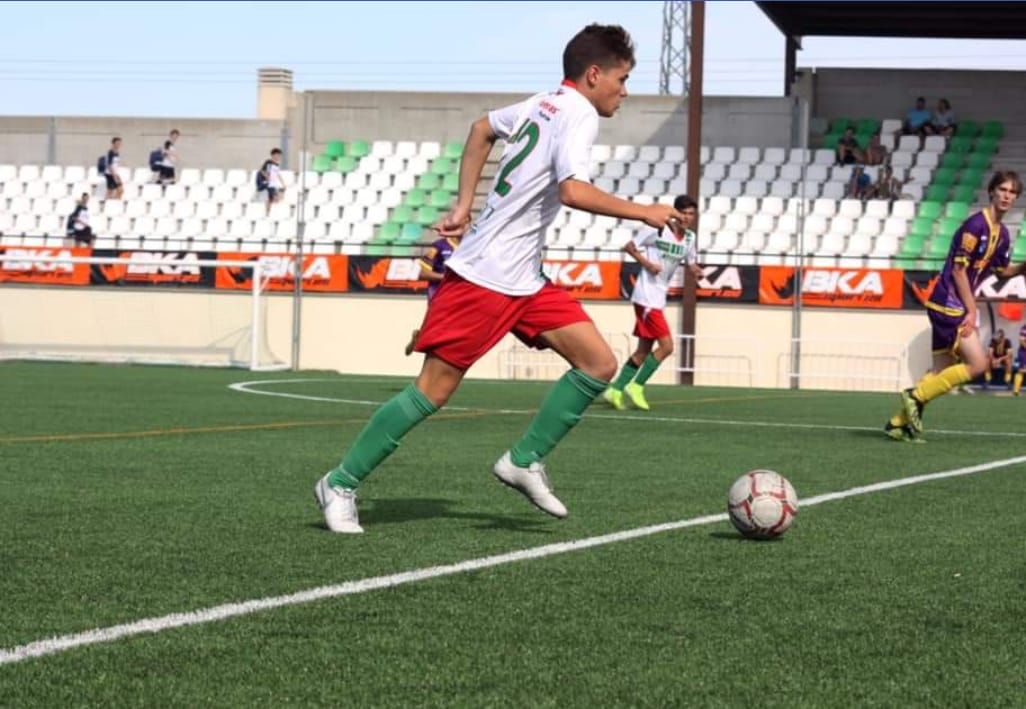 Jorge, jugador del Juvenil D: «He sufrido un cambio de posición que me ha hecho madurar y mejorar mucho»